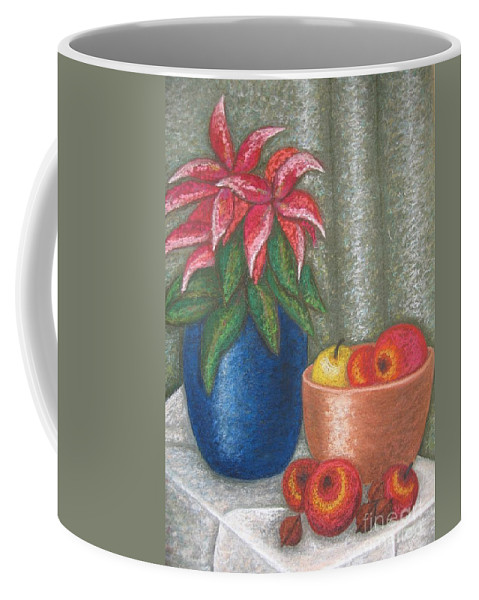 Christmas Rose Coffee Mug featuring the pastel Christmas Rose by Stella Velka