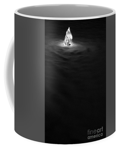 Snow Coffee Mug featuring the photograph Christmas Tree In Snow by Jim Corwin