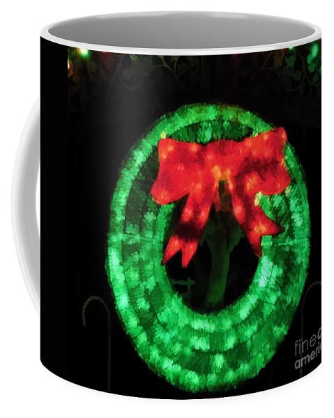 Christmas Coffee Mug featuring the photograph Christmas Wreath by D Hackett