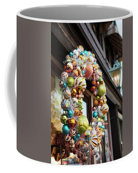 Wreath Coffee Mug featuring the photograph Christmas Wreath by Lori Rider