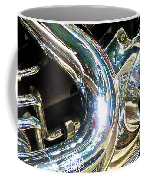 Motorcycle Coffee Mug featuring the photograph Chrome Beauty 1 by Ken Lerner