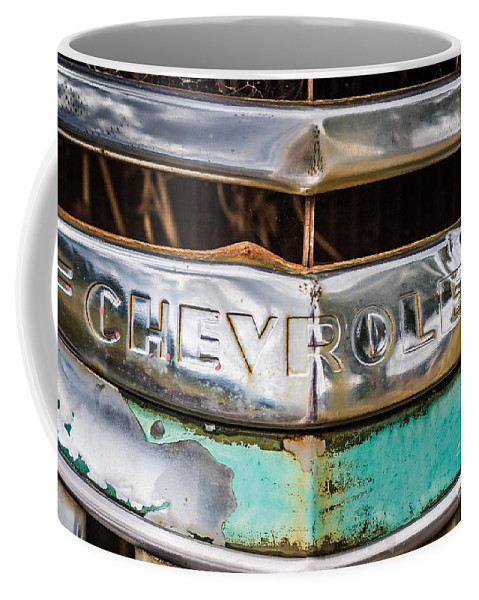 New Mexico Coffee Mug featuring the photograph Chrome Chevrolet by Ashley M Conger