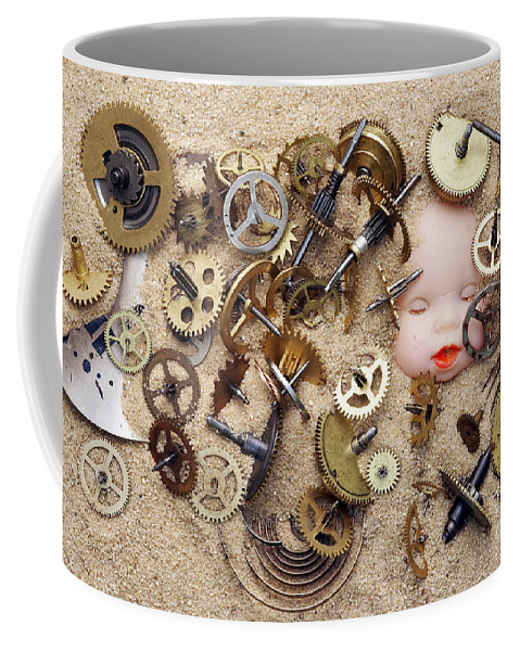 Time Coffee Mug featuring the photograph Chronos - God Of Time by Michal Boubin