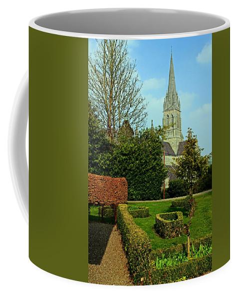 Roman Catholic Church Coffee Mug featuring the photograph Church Garden by Jennifer Robin