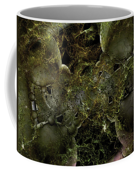 Abstract Coffee Mug featuring the digital art Chthonic Adventure by Casey Kotas