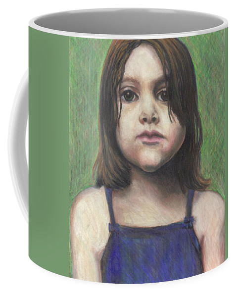 Cheeks Coffee Mug featuring the drawing Chubby Cheeks by Jean Haynes