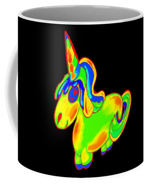 Baby-girl Coffee Mug featuring the digital art Chubby Silly Unicorn1 by Kaylin Watchorn