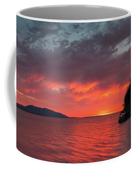 Bellingham Coffee Mug featuring the photograph Chuckanut Bay Panorama by Ryan McGinnis