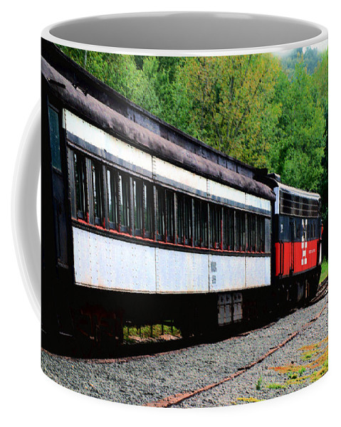 Train Coffee Mug featuring the photograph Chugging Along by RC DeWinter
