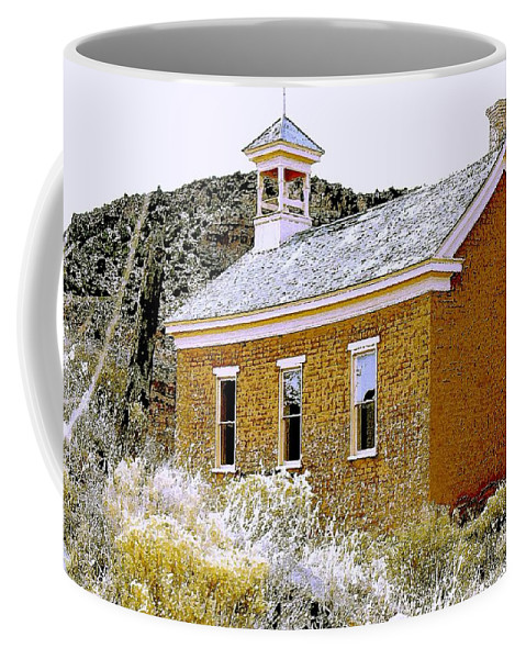 Church Coffee Mug featuring the photograph Church - Grafton Utah by Nelson Strong