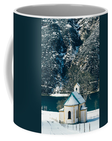 Winter Coffee Mug featuring the photograph Church By The Achensee by Pati Photography