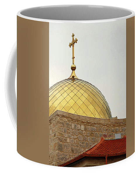Golden Dome Coffee Mug featuring the photograph Church Golden Dome by Munir Alawi