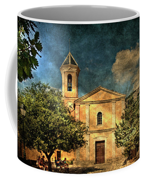 Architecture Coffee Mug featuring the photograph Church In Peillon by Roberto Pagani