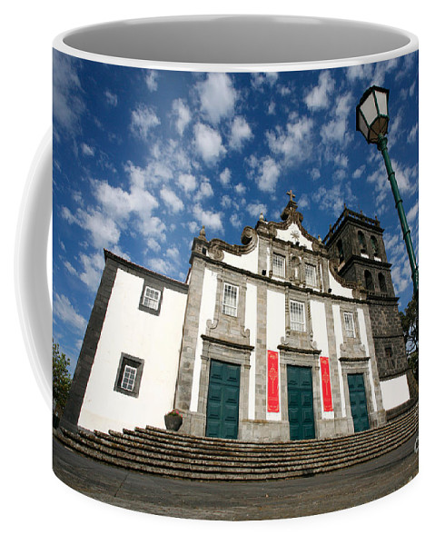 Catholic Coffee Mug featuring the photograph Church In Ribeira Grande by Gaspar Avila
