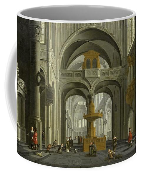 Daniel De Blieck Coffee Mug featuring the painting Church Interior by Daniel de Blieck
