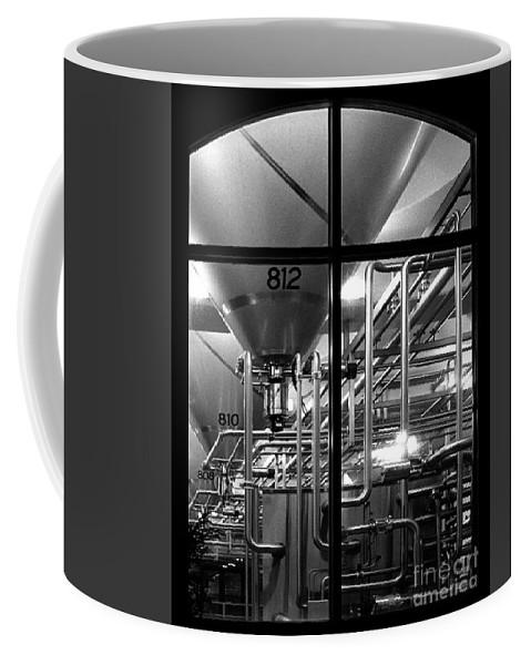 Black And White Coffee Mug featuring the photograph Church Of Modern Man by Peter Piatt