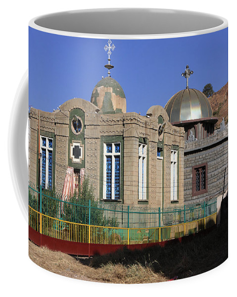 Precious Coffee Mug featuring the photograph Church Of Our Lady Mary Of Zion by Aidan Moran