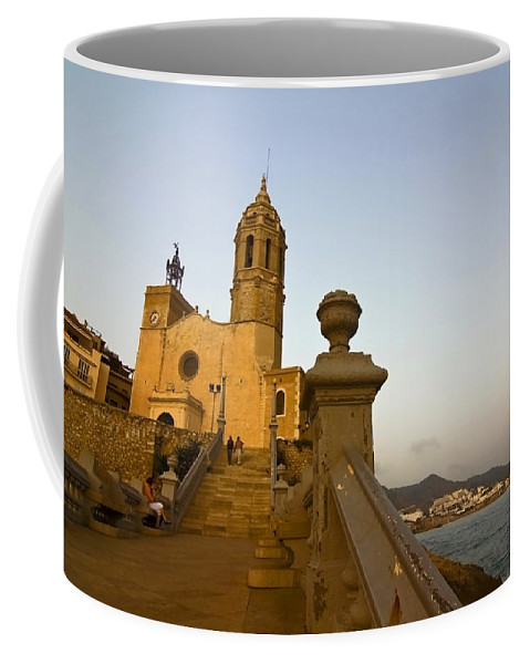 Church Coffee Mug featuring the photograph Church On The Spanish Rivera by Sven Brogren