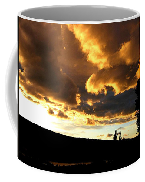 Sunset Coffee Mug featuring the photograph Churning Clouds 1 by Will Borden