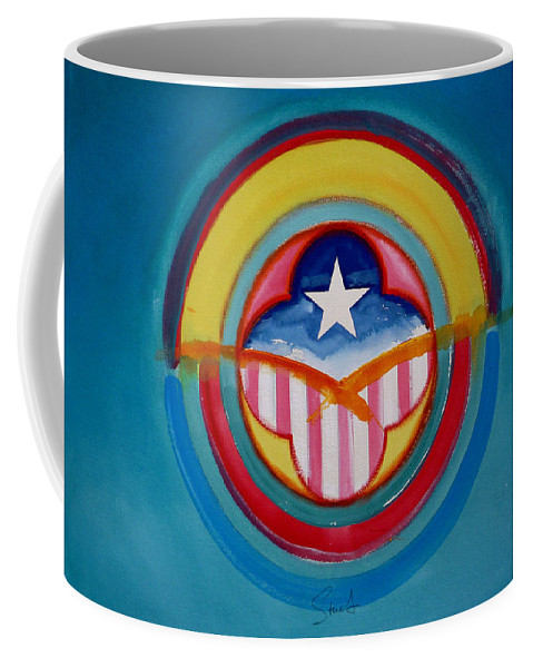 Button Coffee Mug featuring the painting CIA by Charles Stuart