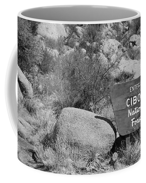 Black And White Coffee Mug featuring the photograph Cibola National Forest by Rob Hans