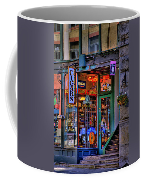 Pioneer Square Seattle Coffee Mug featuring the photograph Cigar Store by David Patterson