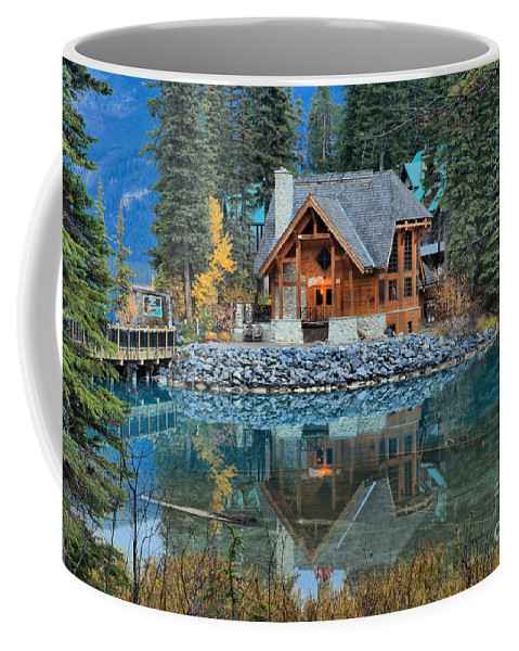 Cilantro Restaurant Coffee Mug featuring the photograph Cilantro Reflections by Adam Jewell