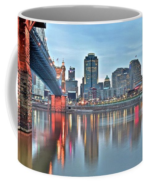 Cincinnati Coffee Mug featuring the photograph Cincinnati At Dusk by Frozen in Time Fine Art Photography