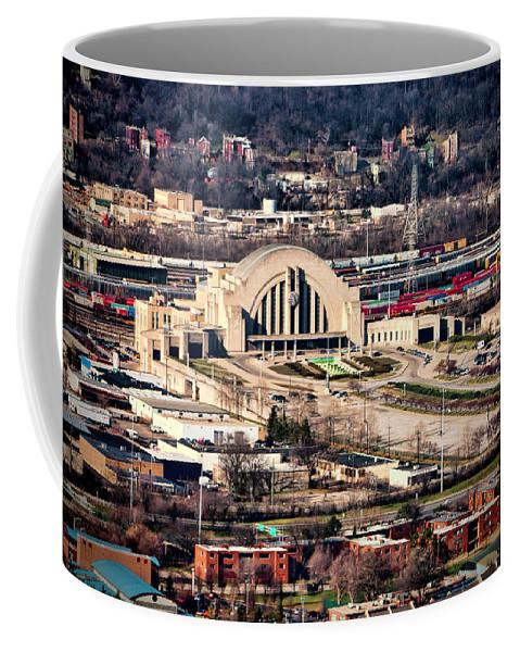 Cincinnati Union Terminal Coffee Mug featuring the photograph Cincinnati Union Terminal by Phyllis Taylor