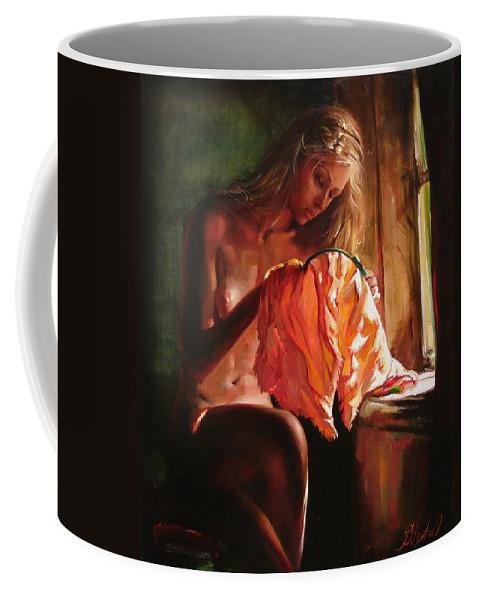 Ignatenko Coffee Mug featuring the painting Cinderella by Sergey Ignatenko