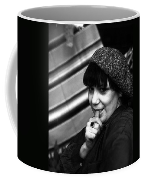 Portrait Coffee Mug featuring the photograph Cindy by Lee Santa