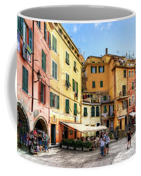 Cinque Terre Coffee Mug featuring the photograph Cinque Terre - Vernazza Main Street by Weston Westmoreland