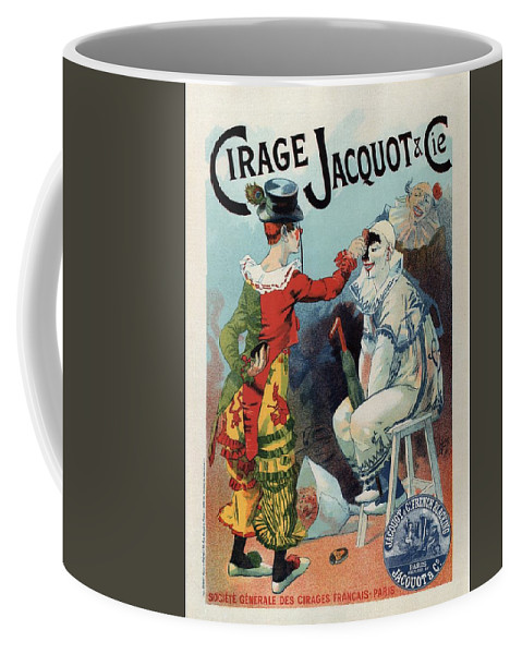 Cirage Jacquot & Cie Coffee Mug featuring the mixed media Cirage Jacquot And Cie - Vintage French Advertising Poster by Studio Grafiikka