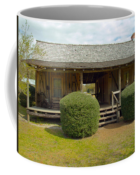 Cabin Coffee Mug featuring the photograph Circa 1900 Dogtrot Cabin Of Ephriam Brown From Lake Mills Florida by Allan Hughes