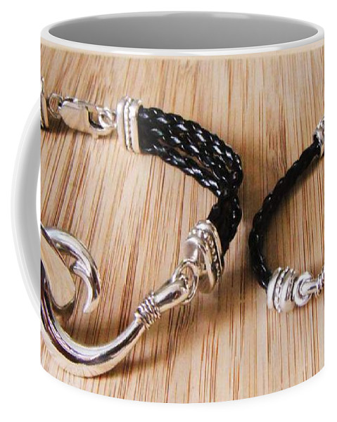 Circle Hook Coffee Mug featuring the jewelry Circle Hook Bracelet by Carey Chen