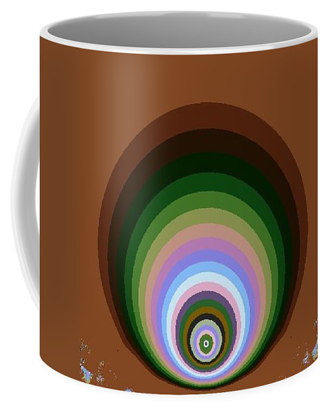 Digital Art Coffee Mug featuring the digital art Circle II by Dragica Micki Fortuna