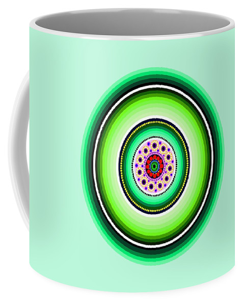 Art Coffee Mug featuring the painting Circle Motif 229 by John F Metcalf