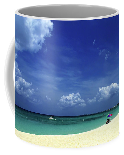 Grand Coffee Mug featuring the photograph Circle Of Clouds On Grand Cayman by Marie Hicks