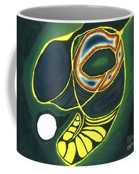 Pacman Coffee Mug featuring the painting Circle Of Life by Caleb Grow