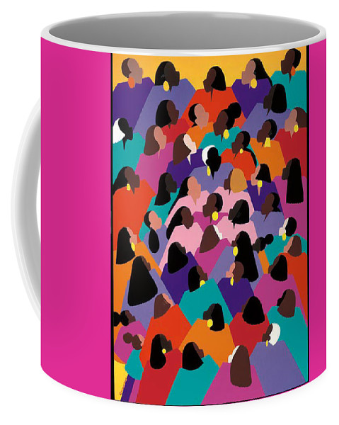Figurative Coffee Mug featuring the painting Circle Of Promise by Synthia SAINT JAMES