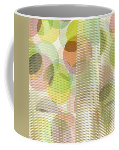 Abstract Coffee Mug featuring the digital art Circle Pattern Overlay II by Ruth Palmer
