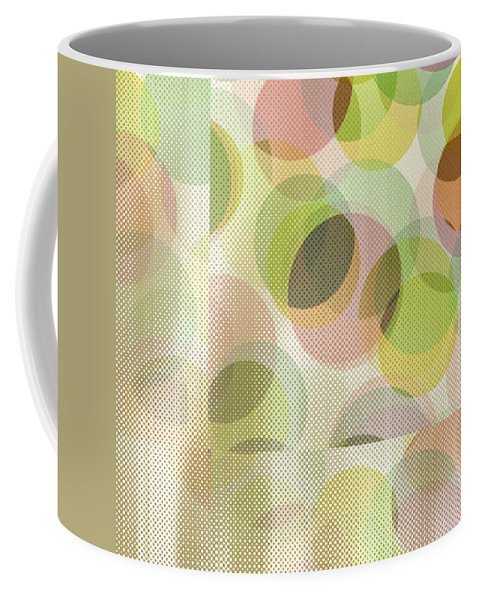 Abstract Coffee Mug featuring the digital art Circle Pattern Overlay by Ruth Palmer
