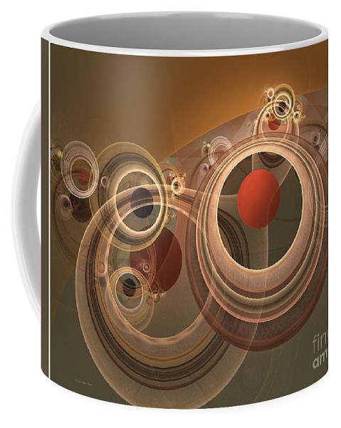 Digital Coffee Mug featuring the digital art Circles And Rings by Deborah Benoit