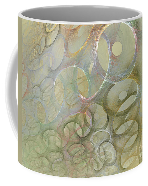 Fractal Coffee Mug featuring the digital art Circles In Circles by Deborah Benoit