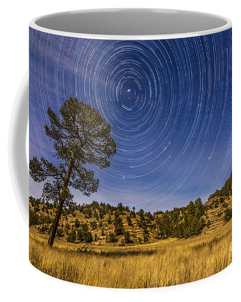 Big Dipper Coffee Mug featuring the photograph Circumpolar Star Trails Over Mimbres by Alan Dyer