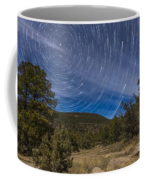 Big Dipper Coffee Mug featuring the photograph Circumpolar Star Trails Over The Gila by Alan Dyer