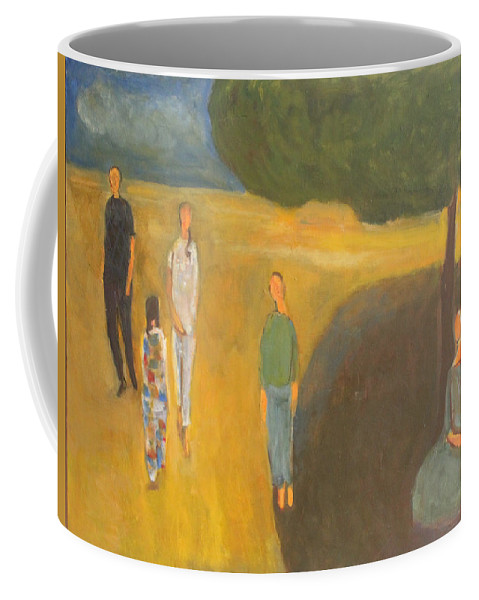 Circus Series Family Coffee Mug featuring the painting Circus Family by Nandu Vadakkath