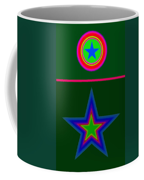 Circus Coffee Mug featuring the digital art Circus Green by Charles Stuart