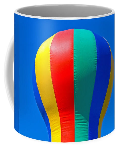 Red; Green; Yellow; Blue; Pillow; Sky; Circus; Carnival; Country; Fair; Ball; Balloon; Colors; Color Coffee Mug featuring the photograph Circus In The Sky - Two by Allan Hughes