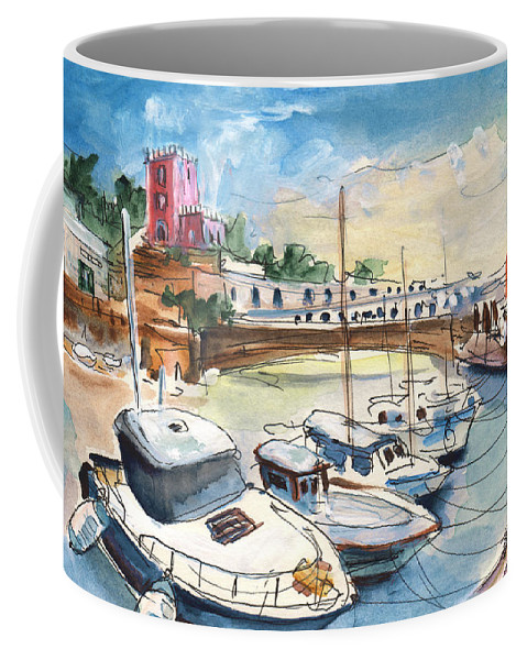 Travel Coffee Mug featuring the painting Citadel Of Minorca 01 by Miki De Goodaboom